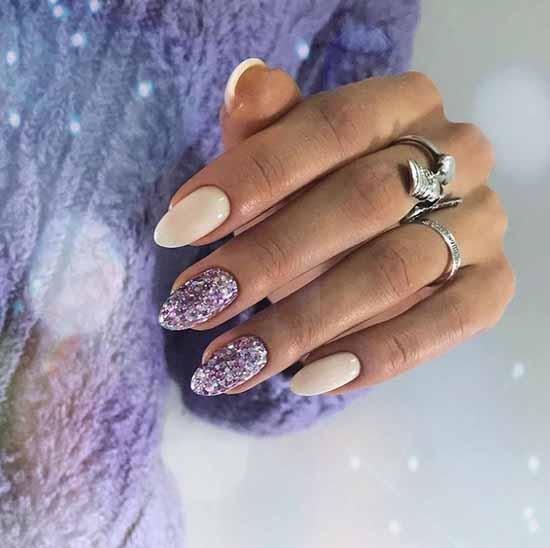 Milk manicure winter