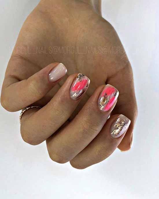 Fashionable design short nails