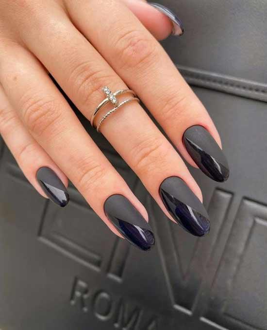 Black trendy manicure