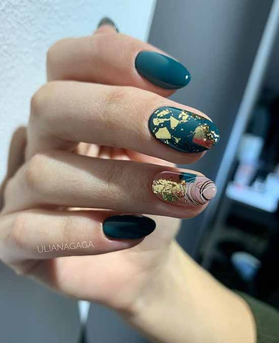 Potale on nails: +100 photo of manicure, beautiful design