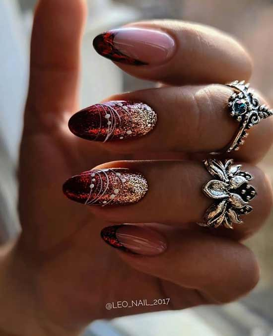 Festive red manicure