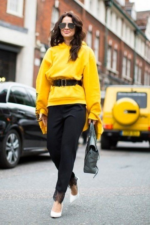 Fashionable hoodies.  The most stylish looks with sweatshirts