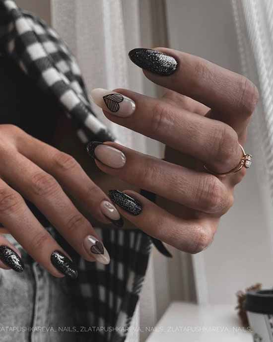 French black with sequins