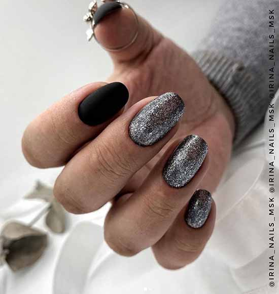 Black with sequins