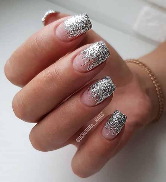 Silver nail tips