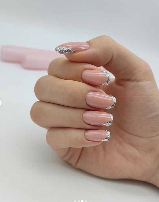 French pink with silver
