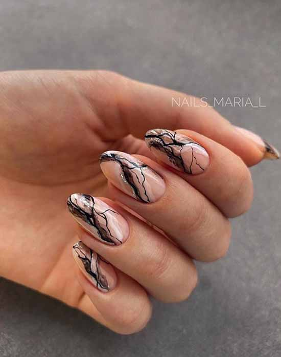 Marble design with silver