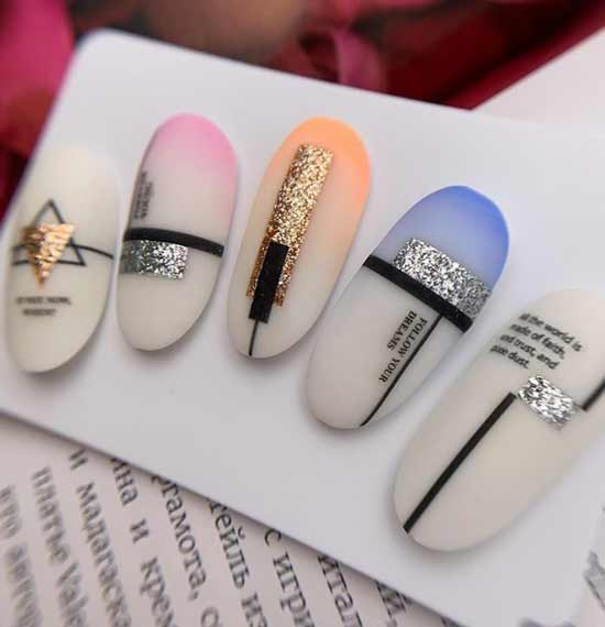 New in glitter nail designs