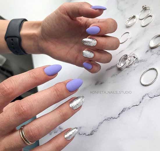 Matte glitter manicure