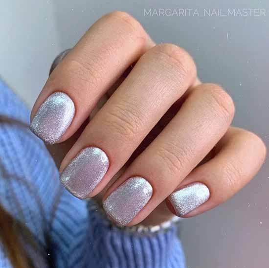 Silver in manicure