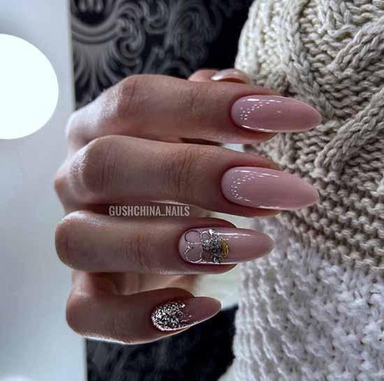 Long silver nails