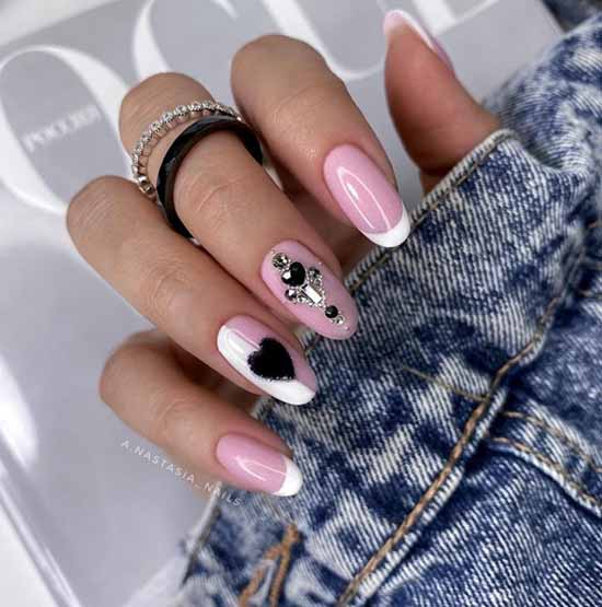 Long nails with silver