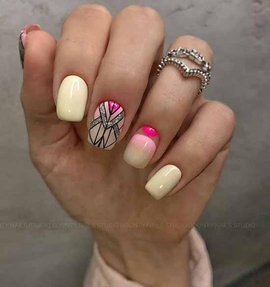 Fashionable silver manicure
