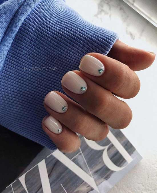 Stylish nail design with decor