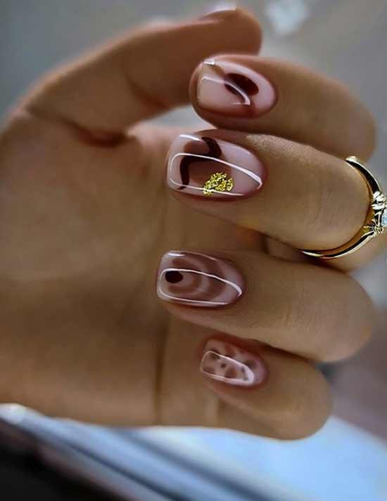 Delicate manicure short length