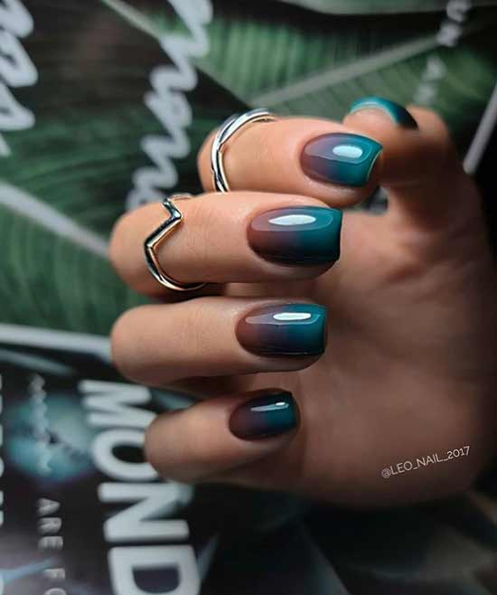 Stylish gradient manicure for short nails