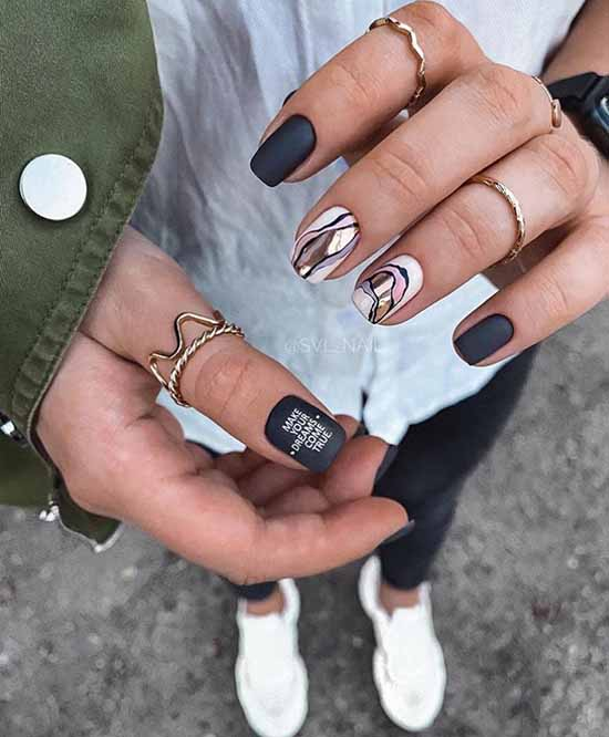Stylish manicure for short nails: +100 new products on the photo