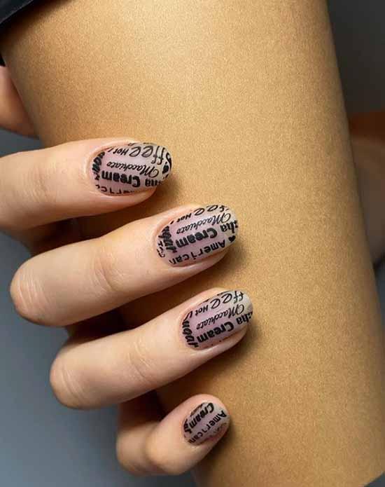 Stylish manicure short nails