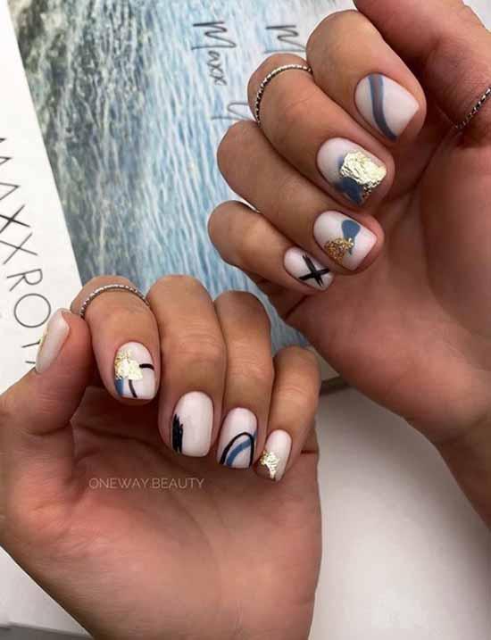 Gel polish short nails