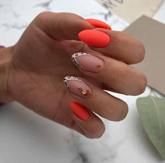 Colored French gel polish