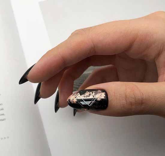 Black manicure gel polish