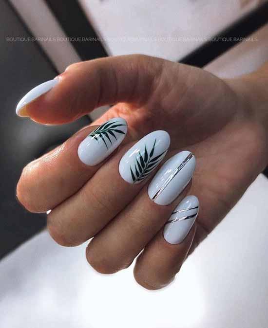 White gel polish on nails