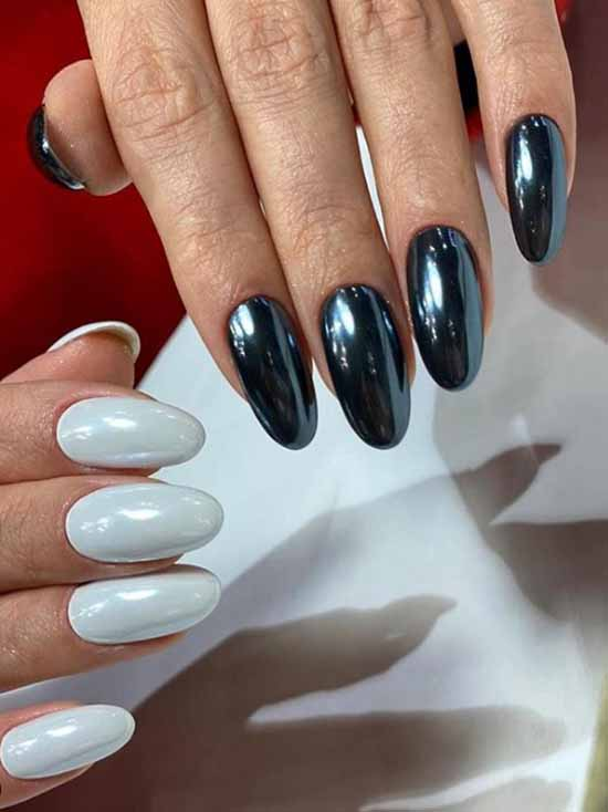 Rubbing on gel polish manicure