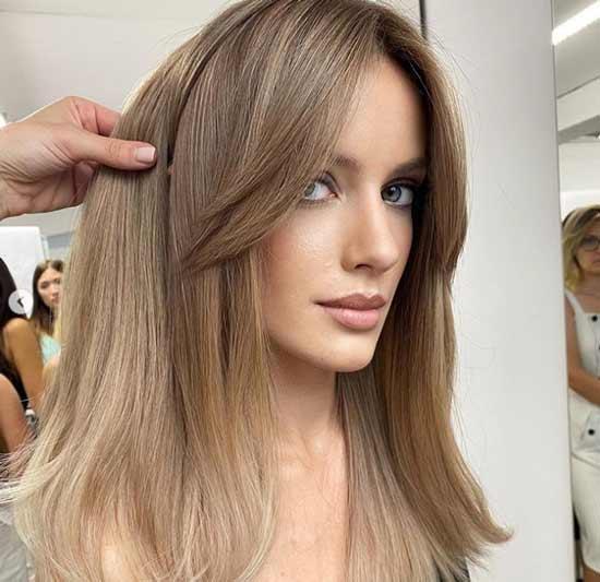 Long bangs with a haircut