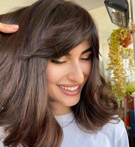 Long haired bangs