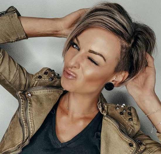 Asymmetric haircuts with bangs