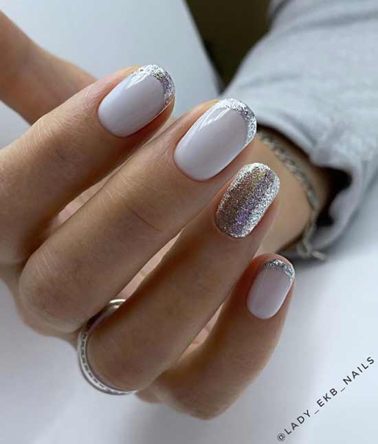Lunar and French manicure