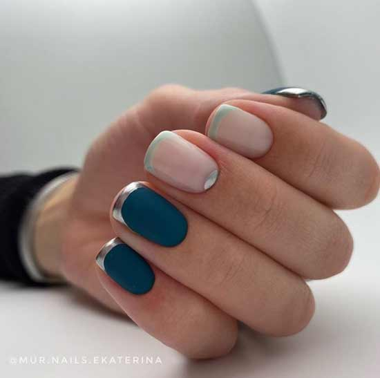 Lunar manicure and french
