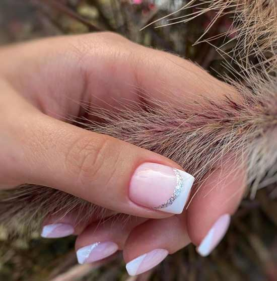 French manicure for square nails