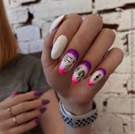 French manicure with design: photo, the best novelties