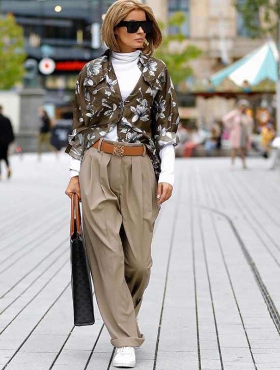 Layered look with belt