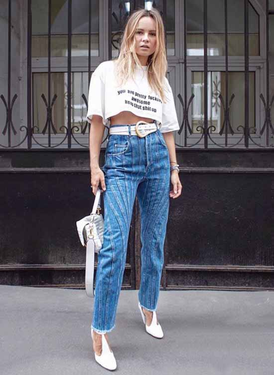 With what and how to wear a belt: fashionable female images in the photo