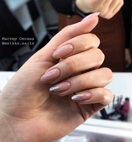 Nude french sequined