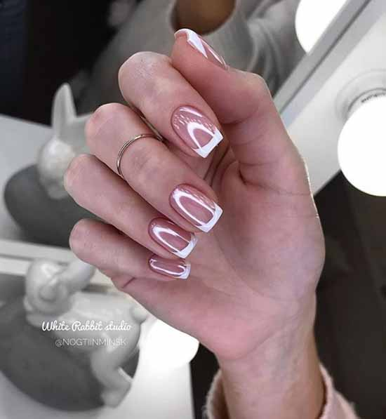 Shiny jacket: a large selection of new photo ideas for manicure