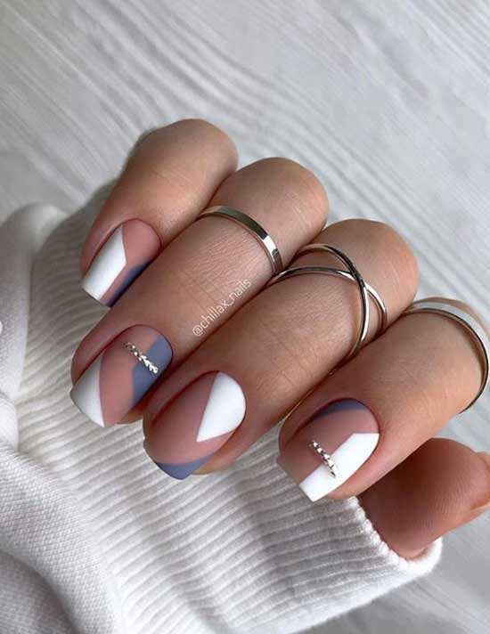 Festive two-tone manicure