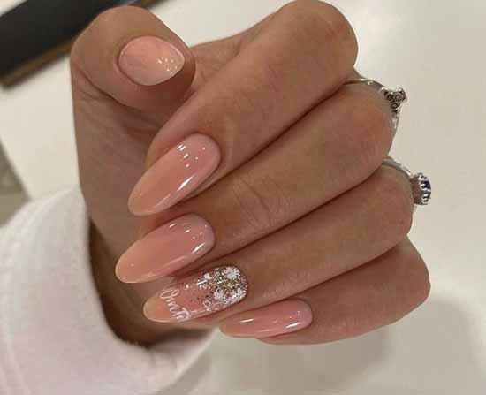 Elegant design for long nails