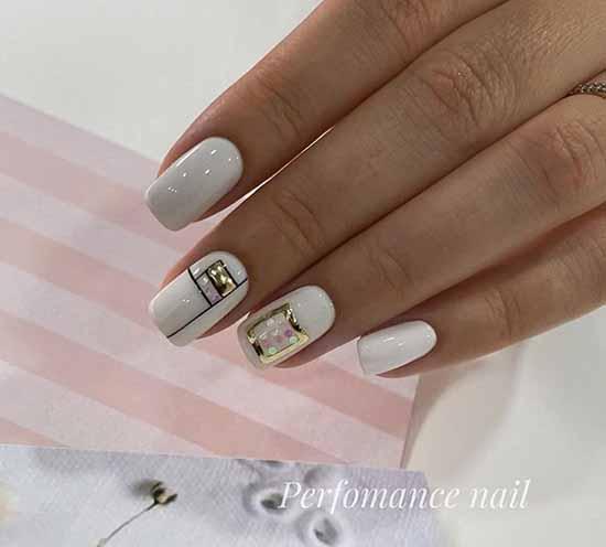 Festive manicure with decor