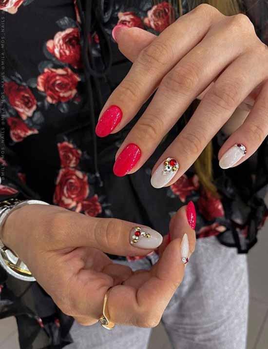 Bright festive manicure