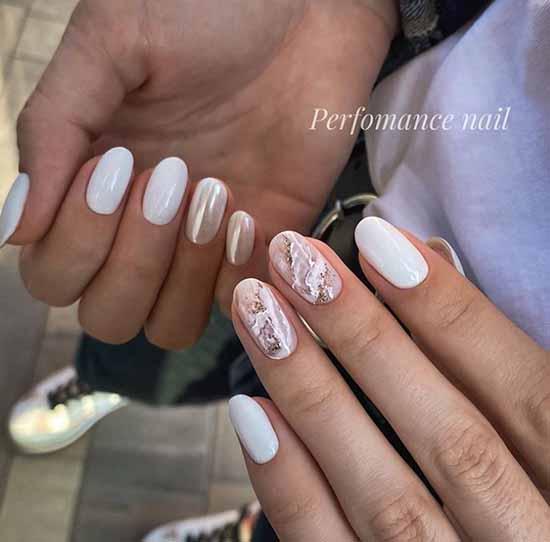 Wedding manicure photo