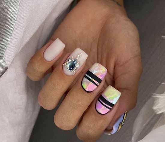 Bright elegant manicure