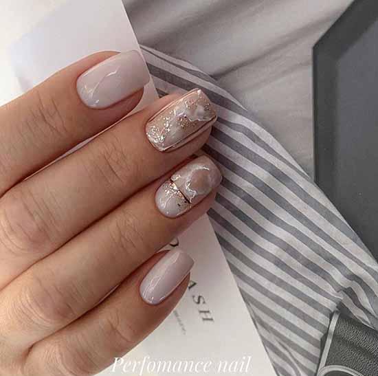 Delicate elegant manicure