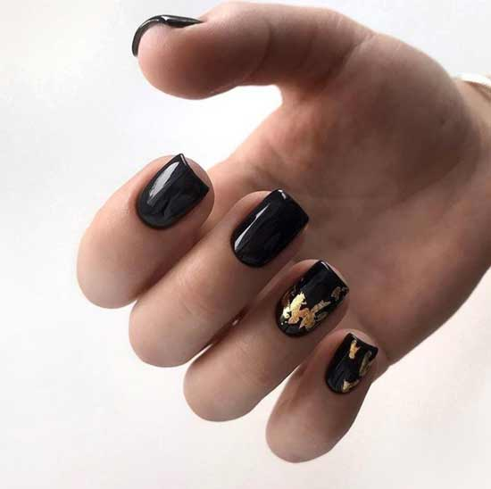 Black festive with foil