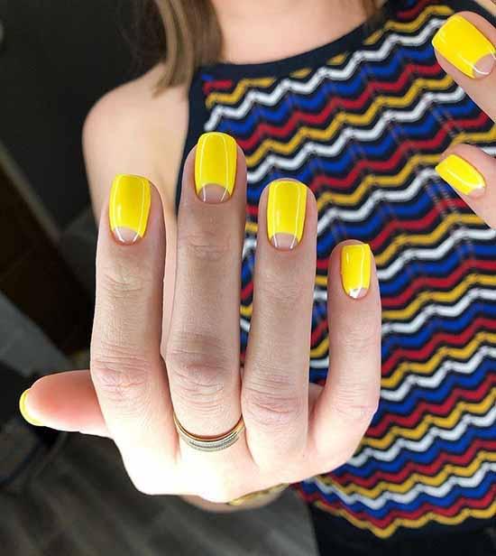 Bright yellow manicure
