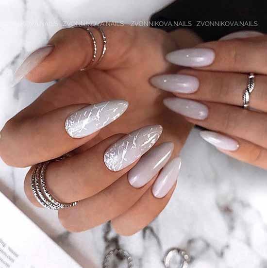 Elegant green manicure