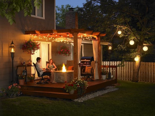 Terrace landscape lighting