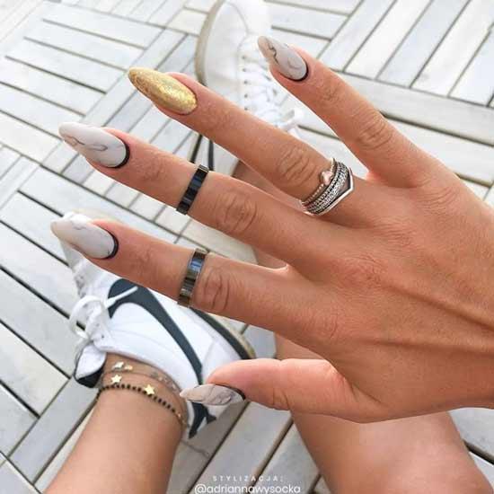 Original marble nail designs
